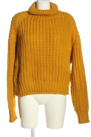 H&M Crochet Sweater light orange cable stitch casual look