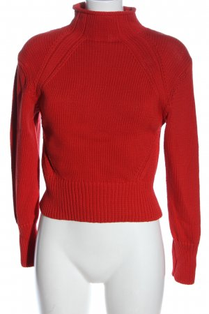 H&M Crochet Sweater red cable stitch casual look