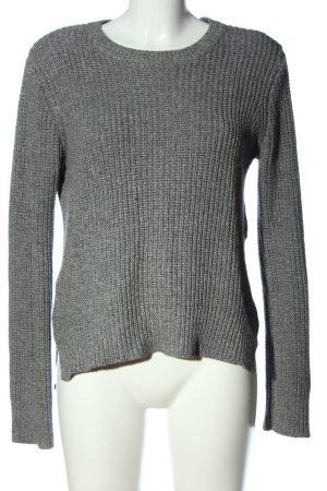 H&M Szydełkowany sweter jasnoszary W stylu casual