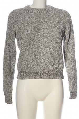 H&M Crochet Sweater light grey-white casual look