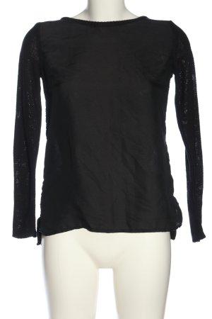 H&M Häkelpullover schwarz Casual-Look