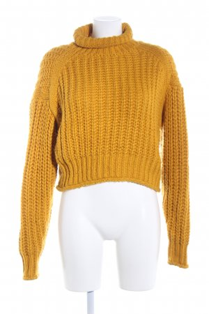 H&M Jersey de ganchillo naranja claro punto trenzado look casual