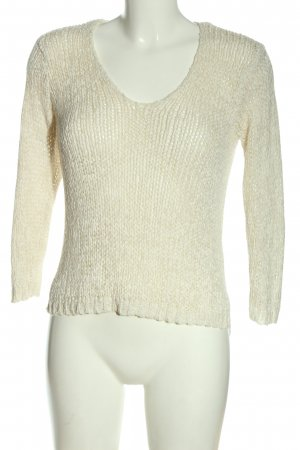 H&M Crochet Sweater natural white cable stitch casual look