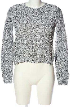 H&M Jersey de ganchillo blanco-negro moteado look casual