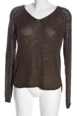 H&M Pull en crochet brun style décontracté