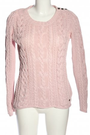 H&M Crochet Sweater pink casual look