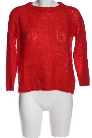 H&M Szydełkowany sweter czerwony W stylu casual