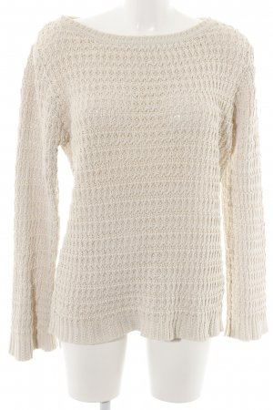 H&M Crochet Sweater natural white cable stitch simple style