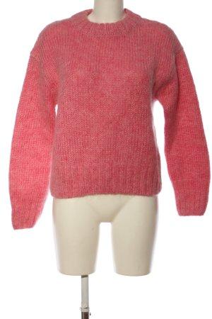 H&M Gehaakte trui roze gestippeld casual uitstraling
