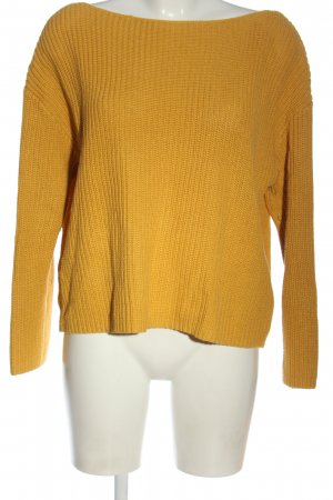 H&M Crochet Sweater light orange cable stitch casual look