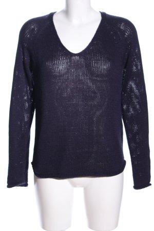 H&M Crochet Sweater blue casual look