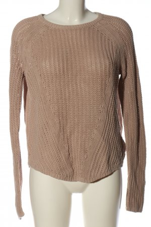 H&M Crochet Sweater brown cable stitch casual look
