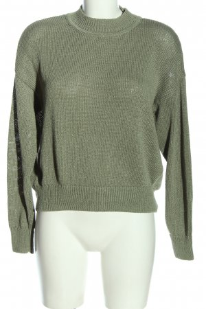 H&M Jersey de ganchillo caqui punto trenzado look casual
