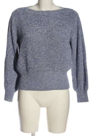 H&M Crochet Sweater blue-light grey flecked casual look