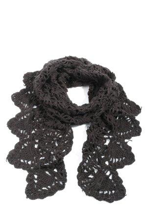 H&M Crochet Scarf brown casual look