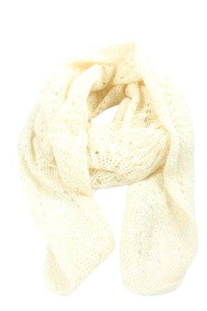 H&M Szydełkowany szalik w kolorze białej wełny Siateczkowy wzór