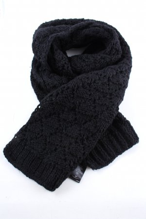 H&M Crochet Scarf black casual look
