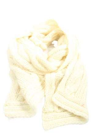 H&M Crochet Scarf natural white cable stitch casual look