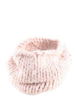 H&M Bufanda de ganchillo rosa punto trenzado look casual