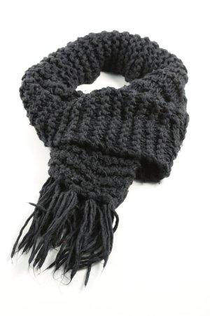 H&M Gehaakte sjaal zwart kabel steek zakelijke stijl