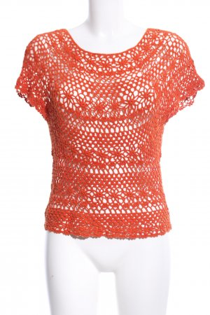 H&M Crochet Shirt light orange casual look