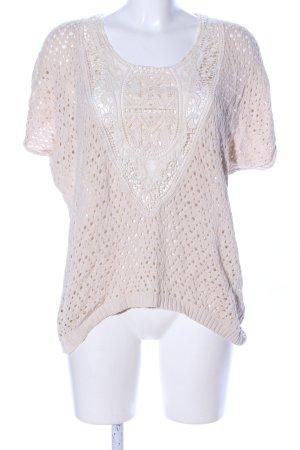 H&M Gehaakt shirt wolwit Patroon-mengeling casual uitstraling