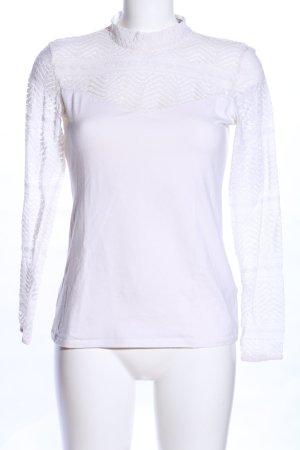 H&M Camicetta all'uncinetto bianco stile casual