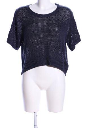H&M Gehaakt shirt blauw casual uitstraling
