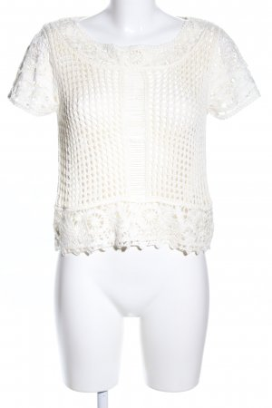 H&M Crochet Shirt cream casual look
