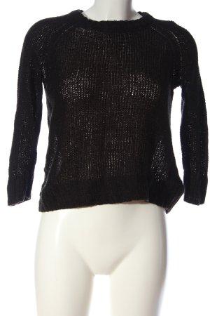 H&M Gehaakt shirt zwart casual uitstraling