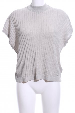 H&M Crochet Shirt silver-colored casual look