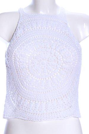 H&M Gehaakte top wit casual uitstraling