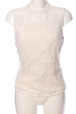 H&M Gehaakte top wit Webpatroon zakelijke stijl