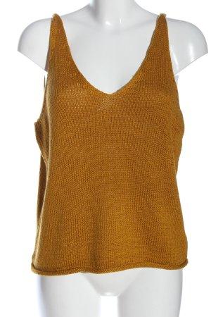H&M Top de ganchillo naranja claro Patrón de tejido look casual