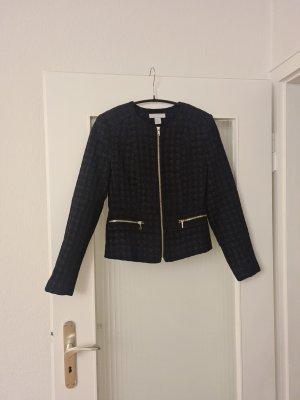 H&M Basic Tweed Blazer black-gold-colored