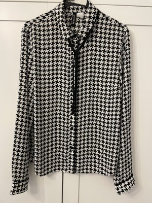 H&M Hahnentrittmuster Bluse Gr. 36