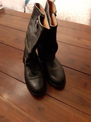 H&M Basic Cothurne noir cuir