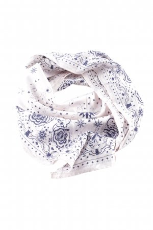 H&M Halstuch weiß-blau Allover-Druck Casual-Look