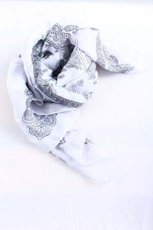 H&M Neckerchief white-black abstract pattern casual look
