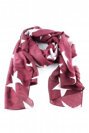 H&M Halsdoek rood-wit volledige print casual uitstraling