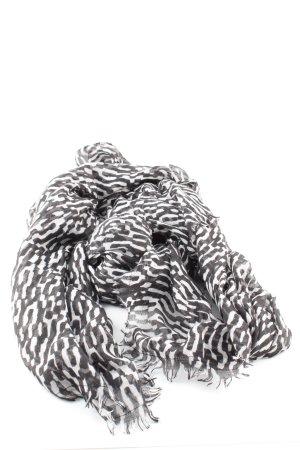 H&M Apaszka czarny-biały Na całej powierzchni W stylu biznesowym