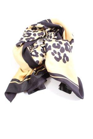 H&M Apaszka kremowy-fiolet Zwierzęcy wzór W stylu casual