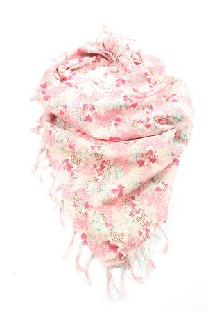 H&M Halstuch creme-pink Blumenmuster Casual-Look