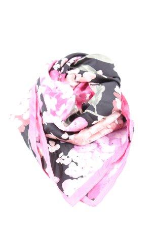 H&M Halstuch pink-schwarz Blumenmuster Casual-Look