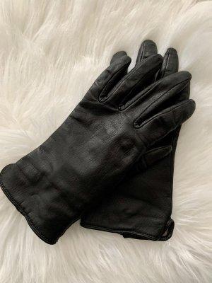 H&M Gants en cuir noir
