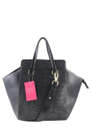 H&M Handtasche schwarz Allover-Druck Business-Look