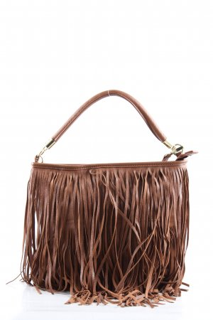 H&M Fringed Bag brown casual look