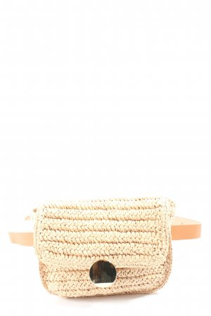 H&M Handtasche nude-creme Zopfmuster Casual-Look