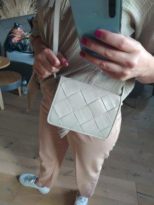H&M Handtasche geflochten beige nude