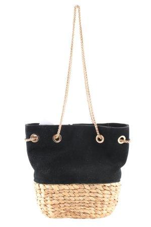 H&M Handtasche schwarz-creme Casual-Look